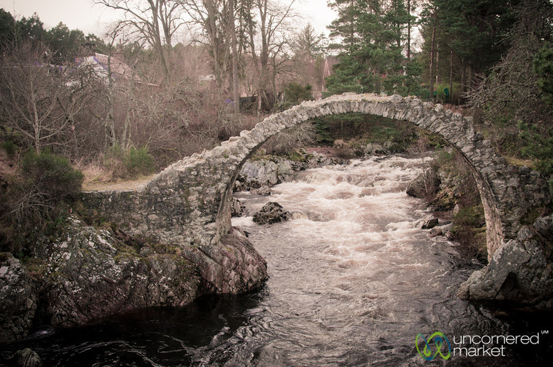 Carrbridge Stone Bridge and River - Scotland