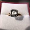 .53ctw Rose Cut Halo Ring, by Single Stone 27