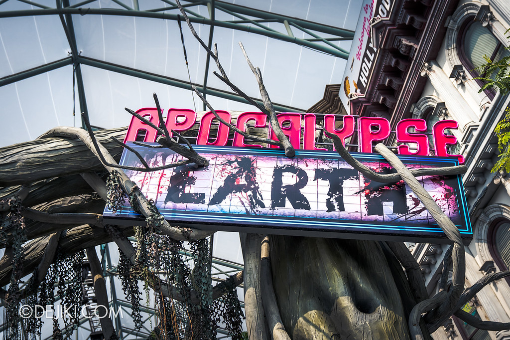 Universal Studios Singapore Halloween Horror Nights 8 / Apocalypse Earth scare zone marquee