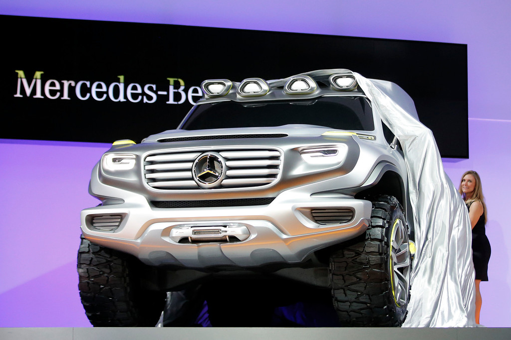 . The Mercedes-Benz Ener-G-Force concept is introduced at the LA Auto Show in Los Angeles, Wednesday, Nov. 28, 2012. The annual Los Angeles Auto Show opened to the media Wednesday at the Los Angeles Convention Center. The show opens to the public on Friday, November 30. (AP Photo/Jae C. Hong)