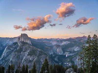 Yosemite Spring Sunset Glacier Point Half Dome McGucken Fine Art