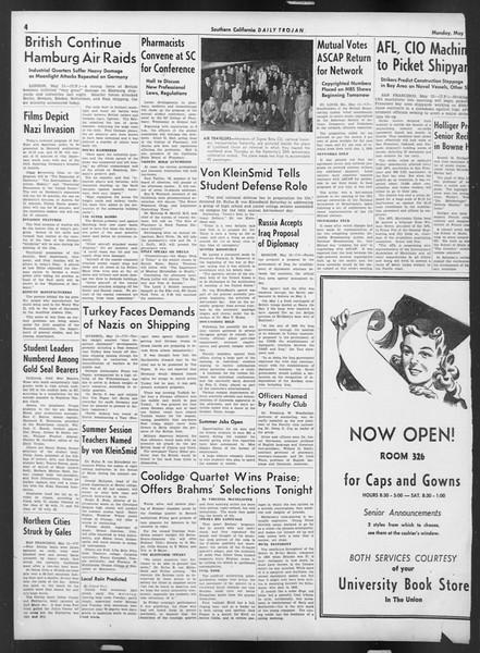 Daily Trojan, Vol. 32, No. 139, May 12, 1941