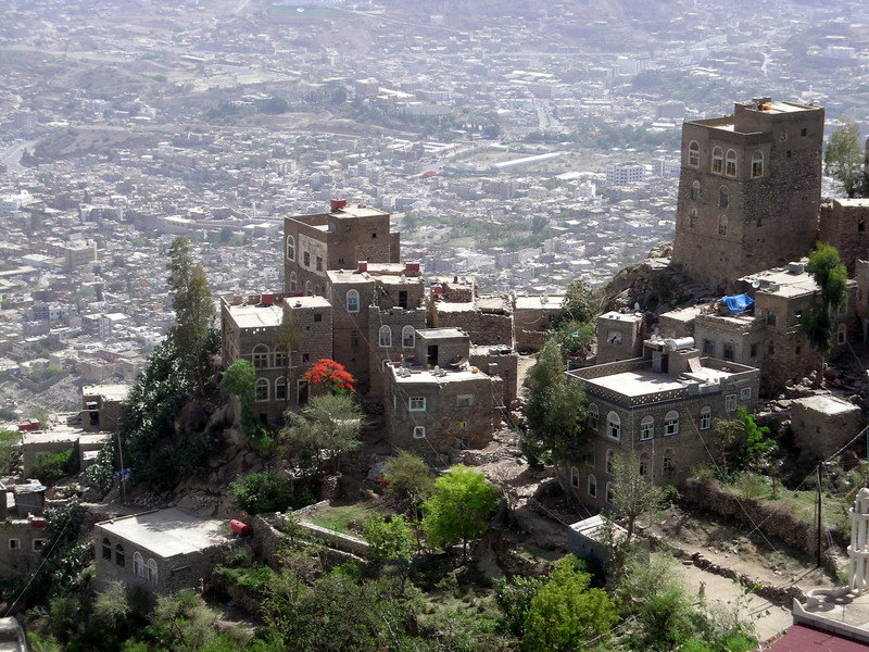 a view of the city of Taiz from Jabal Saber