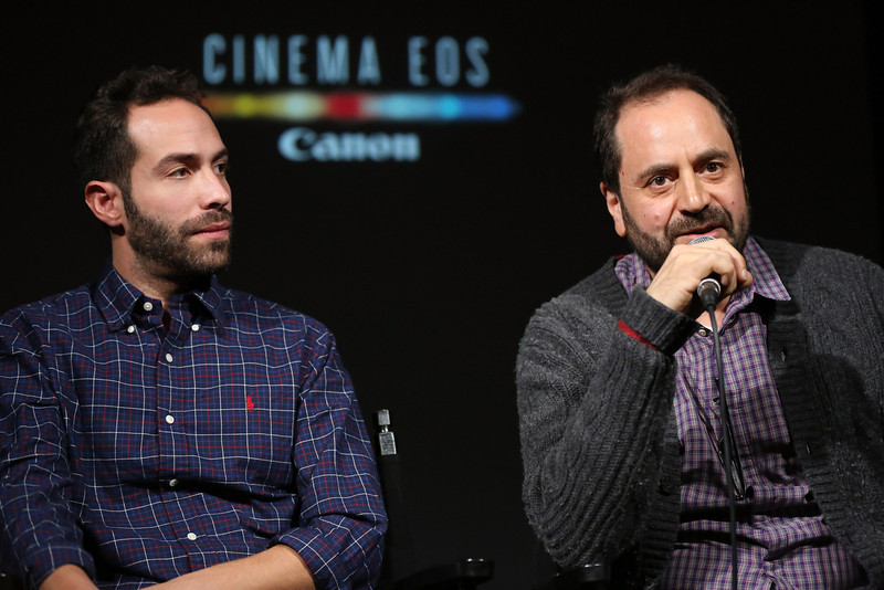 . Daniel B. Levin, DP, Chicagoland and Antonio Rossi, DP, Death Row Stories speak on stage during the Canon Spotlight: CNN Original Series screening at the Sundance Film Festival 2014 on January 20, 2014 in Park City, Utah.  (Photo by Neilson Barnard/Getty Images for Canon)