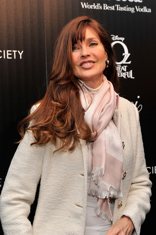 ". Model Carol Alt attends the Gucci and The Cinema Society screening of ""Oz the Great and Powerful\"" at DGA Theater on March 5, 2013 in New York City.  (Photo by Stephen Lovekin/Getty Images)"