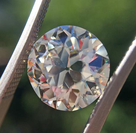 3.98ct Old European Cut Diamond, EGL K VS1