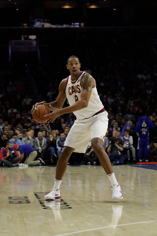 . Cleveland Cavaliers\' Channing Frye in action during an NBA basketball game against the Philadelphia 76ers, Monday, Nov. 27, 2017, in Philadelphia. (AP Photo/Matt Slocum)