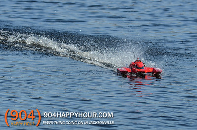 High Speed RC Boats @ LA Fitness Pond - 2.9.14
