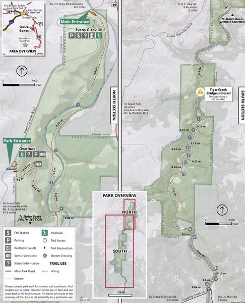 Sluice Boxes State Park (Trail Map)