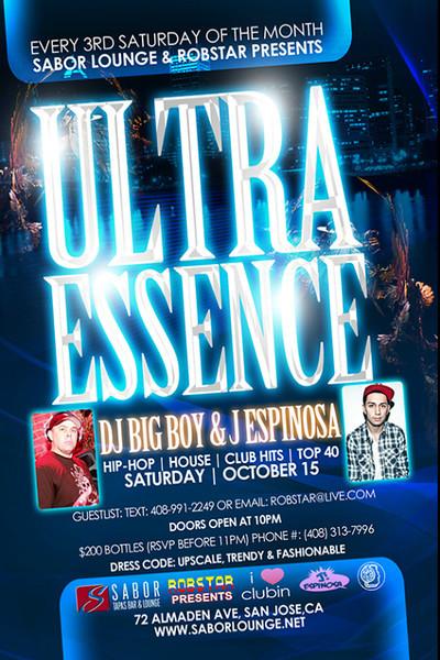 Ultra Essence @ Sabor Tapas Bar & Lounge 10.15.11