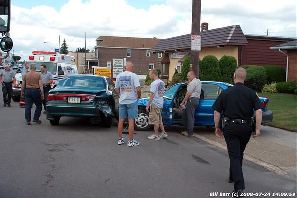 Crash, Poplar st Hazleton, 7/24/08