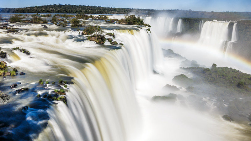 The magnificent Iguazu Falls shot from Luna Llena on the Brazilian side.