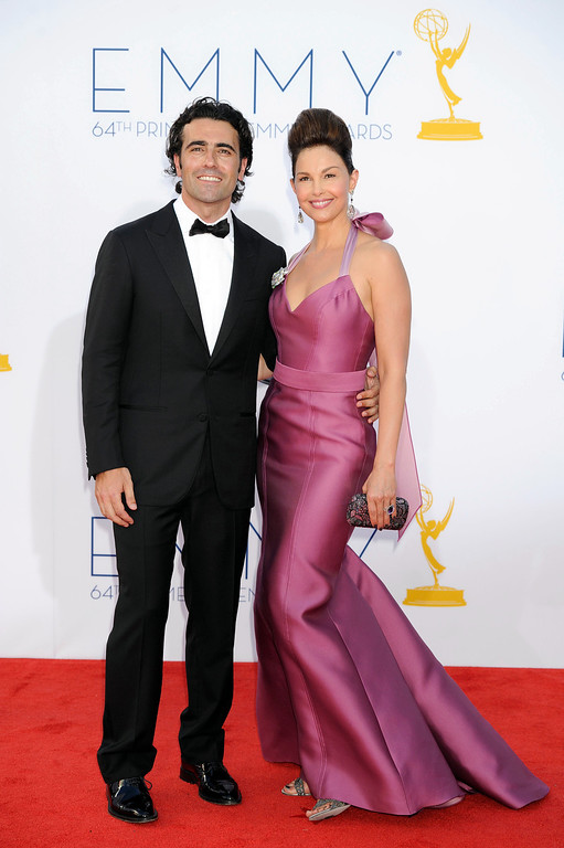 . Racing driver Dario Franchitti and wife actress Ashley Judd arrive at the 64th Primetime Emmy Awards at Nokia Theatre L.A. Live on September 23, 2012 in Los Angeles, California.(Michael Owen Baker/Los Angeles Daily News)