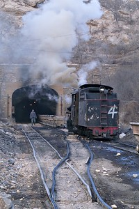 No 4 shunts and brews up at top of incline