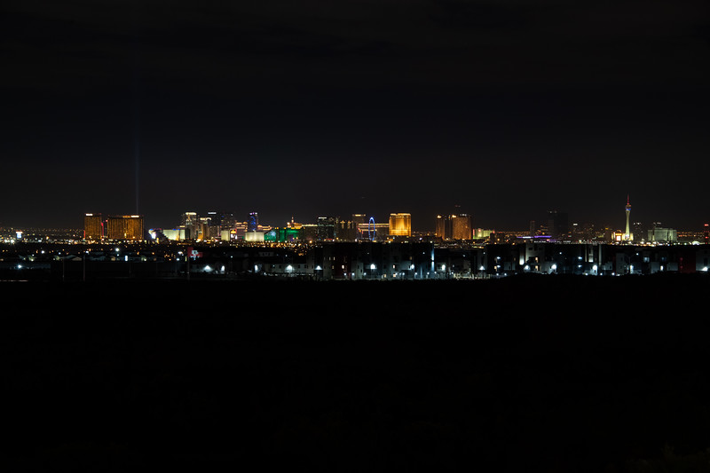 Las Vegas Strip from Vivaldi Park, Henderson, Nevada (9.5 miles away from High Roller)