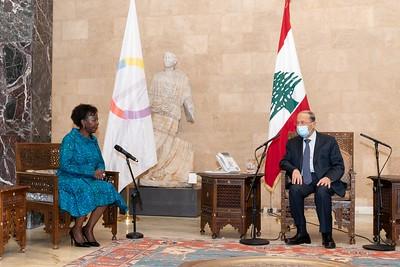 Rencontre avec le Président du Liban SEM Michel AOUN - Beyrouth