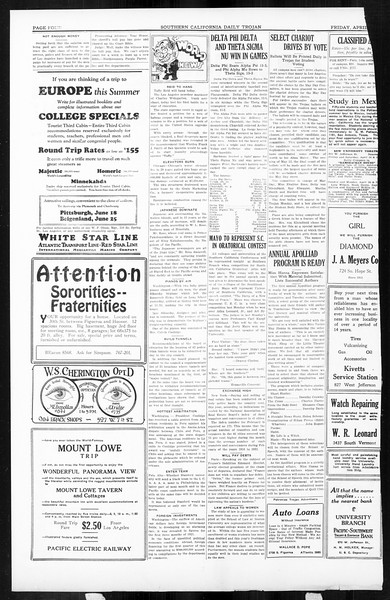 Daily Trojan, Vol. 16, No. 91, April 24, 1925