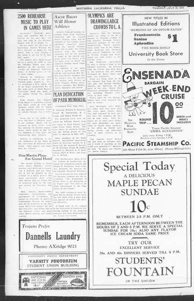 Southern California Trojan, Vol. 11, No. 9, July 19, 1932