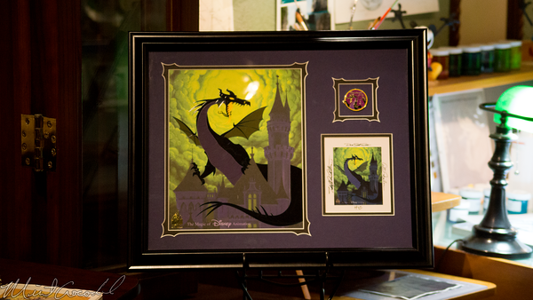 Disneyland Resort, Disneyland, Christmas, Holiday, Holidays, Christmas Time, Main Street USA, Main Street, Disneyana, Disney Gallery, Maleficent, Sleeping Beauty, Hand, Painted, Cel