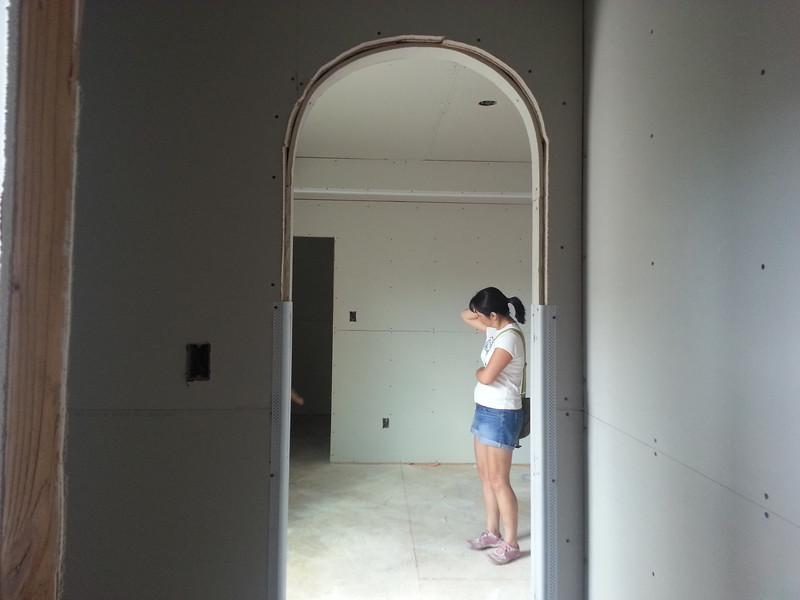 Mandi in Madi's room.
