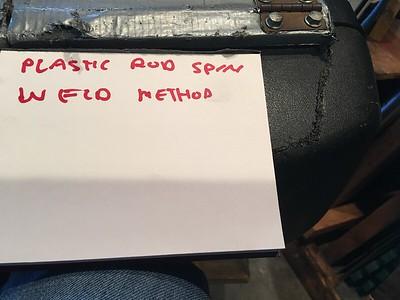 Plastic weld saddle bags
