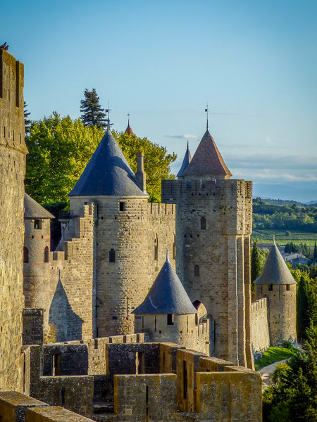 Turrets of Carcassonne, France