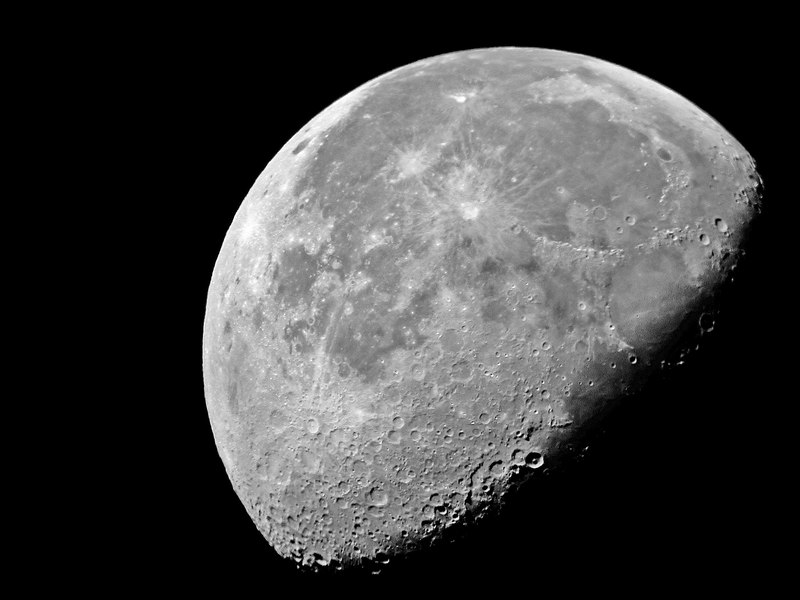 Image of the moon Dec 10, 2006 with 8 inch telescope and Photoshope CS2, using shaddow/Highlight control. Image by Al Paslow and Nikon 990 camera.
