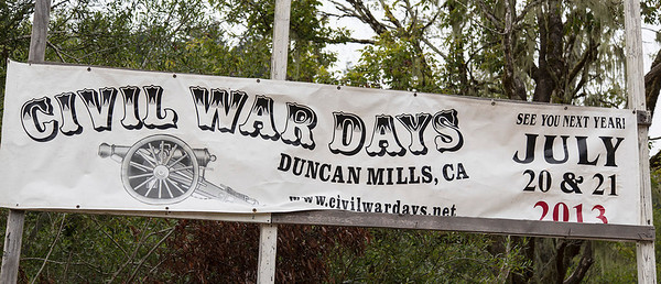 Civil War Days, Duncans Mills, CA