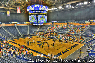 Michigan Volleyball Vs Marshall --- Block Out Bullying 9-20-13