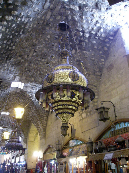 lanterns in the covered souqs of Aleppo
