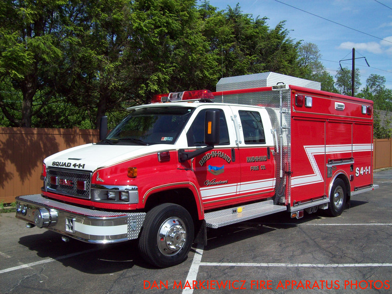 HAND IN HAND FIRE CO. SQUAD 4-1-1 2008 GMC/KME SQUAD