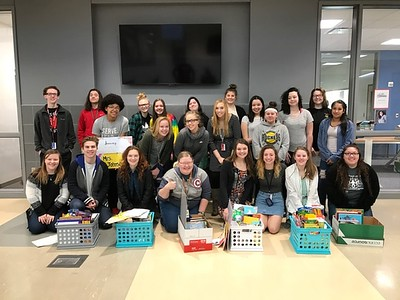 TCA Students with a Supply Drive Experience