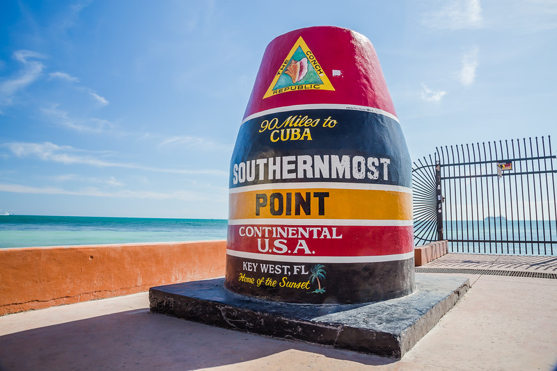 Miami to Key West Road Trip - Southernmost Point - Lina Stock