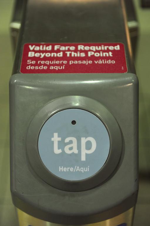 . The ticket sensor at Union Station metro subway, Tuesday, June 18, 2013. (Michael Owen Baker/Staff Photographer)