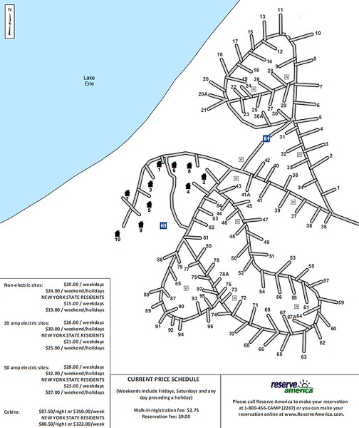Lake Erie State Park (Campground Map)