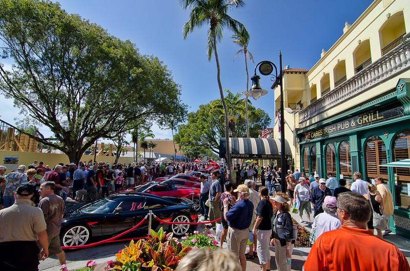 5th Ave. local car club show, Naples Ferrari Club