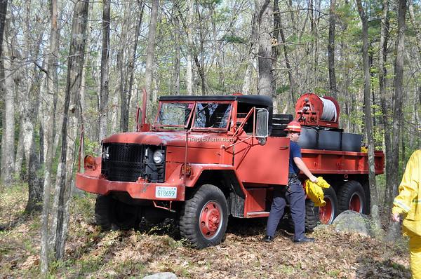 Salem NH 10 Acre brush fire Mystery Hill