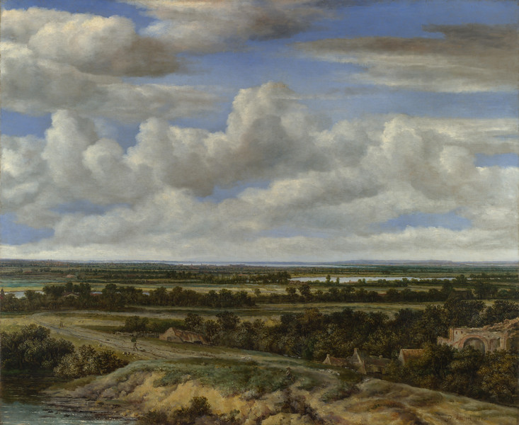 An Extensive Landscape with a Road by a River