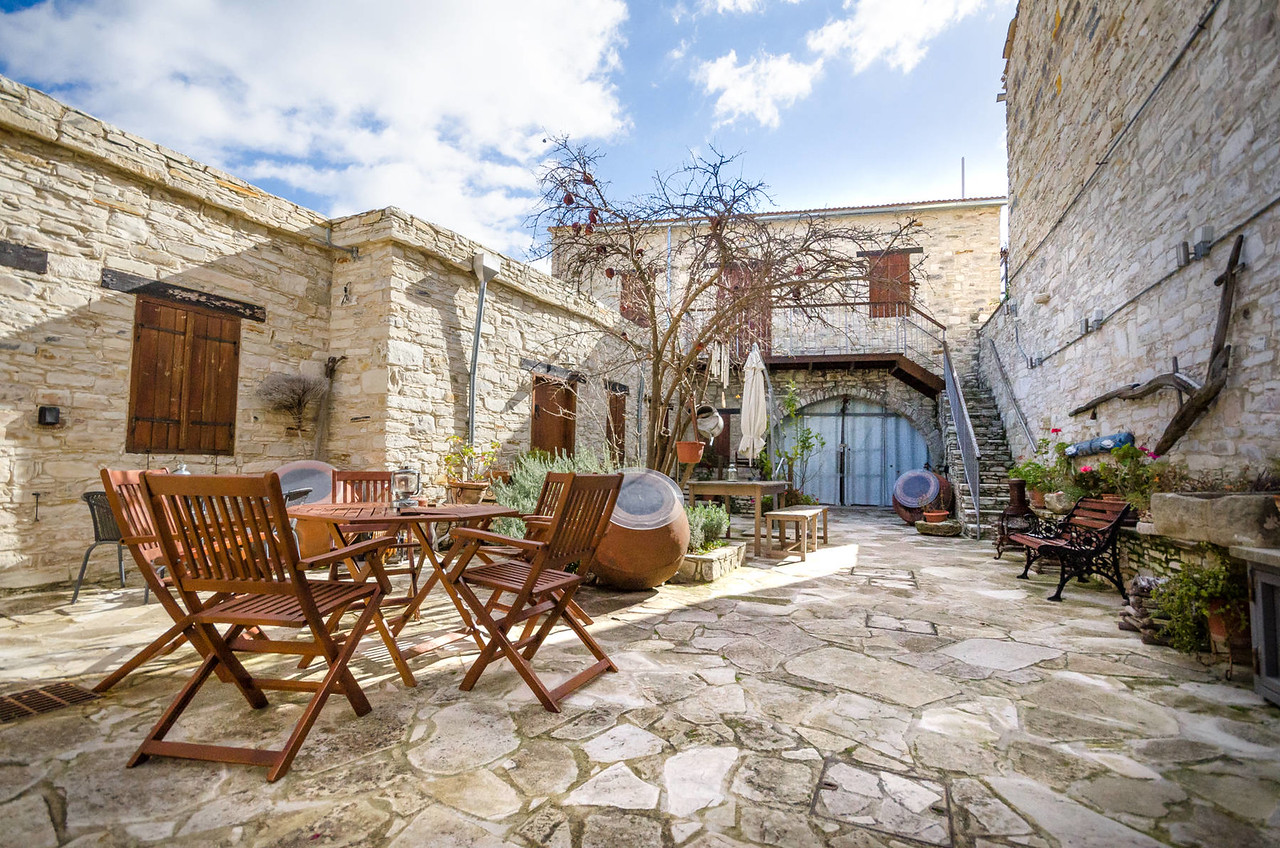 The courtyard | Vavla Rustic Retreat, Cyprus