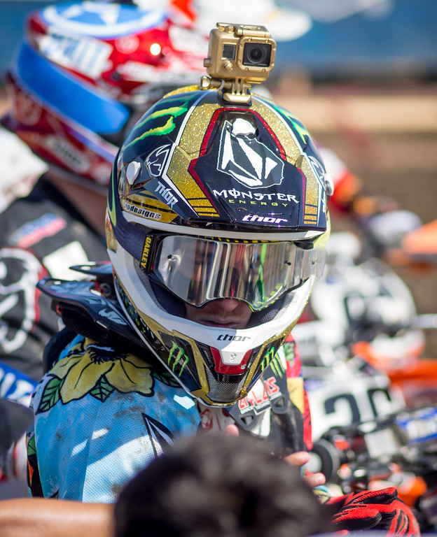 Ryan Villopoto ready for practice at Lake Elsinore - 24 Aug 2013