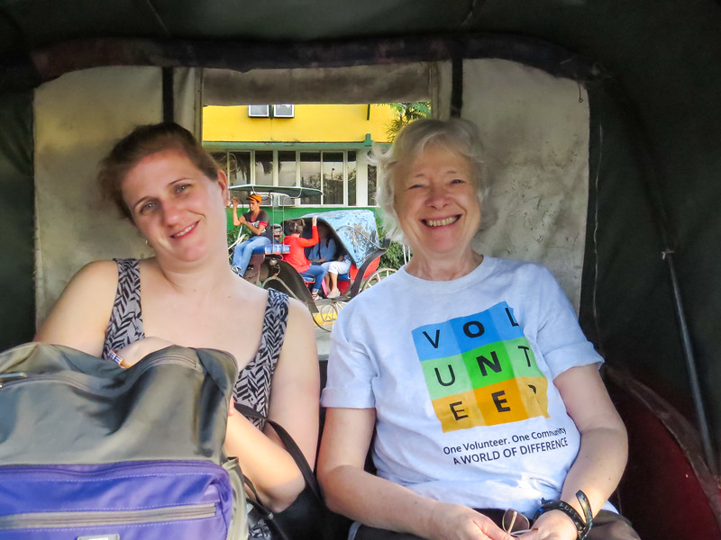 Elizabeth and Jessica share my carriage.