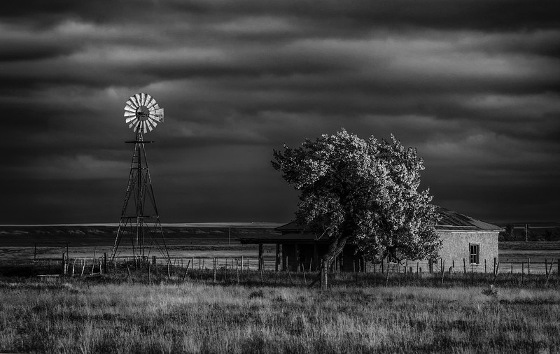 NM B&W Windmill Sunset.jpg