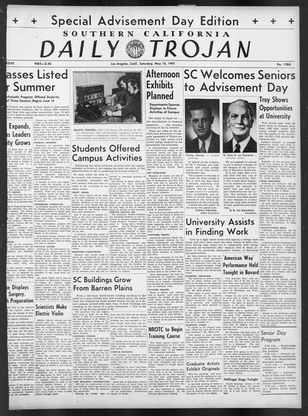 Daily Trojan, Vol. 32, No. 138A, May 10, 1941