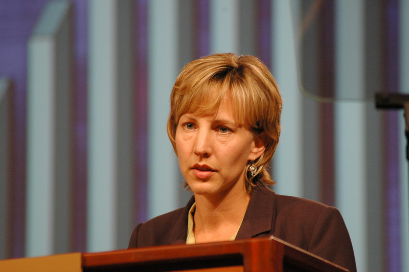 Christina Jackson-Skelton, ELCA Treasurer, gives her report to the fifth plenary session