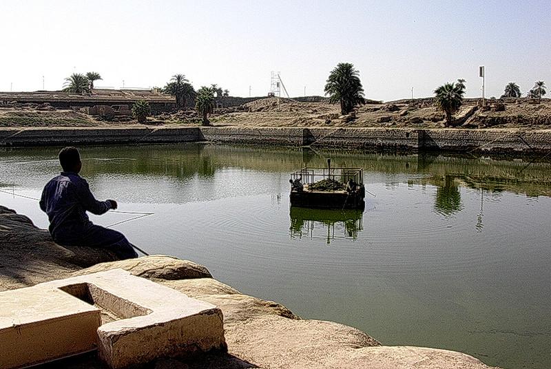 Den hellige sjø i Karnak tempelkompleks (Foto: Ståle)