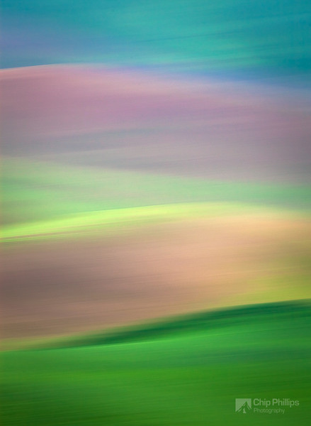 """""""Palouse Abstract#1""""  Panning for abstracts during sunrise in the Palouse."""