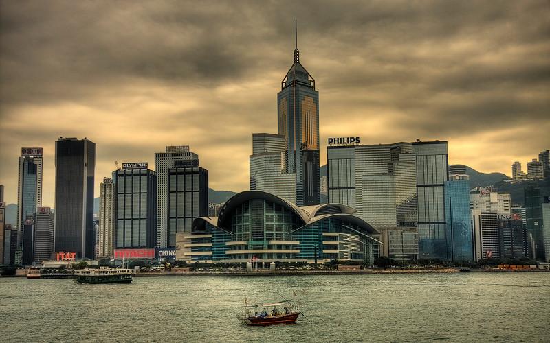 Heavy Skies: Hong Kong, China (HDR Image)