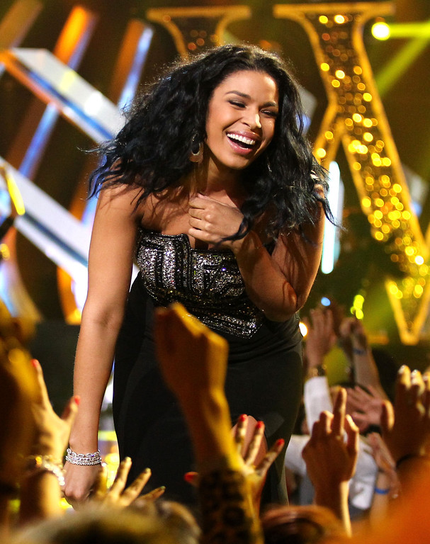 . Jordin Sparks performs at VH1 Divas on Sunday, Dec. 16, 2012, at the Shrine Auditorium in Los Angeles. (Photo by Matt Sayles/Invision/AP)