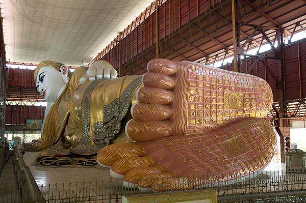 Giant Reclining Buddha Of Yangon