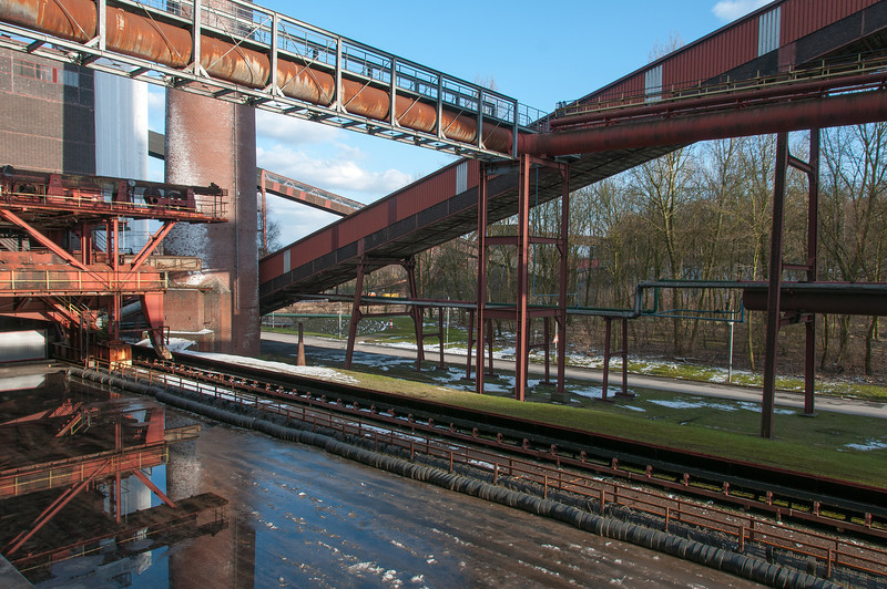 Steel structure at Zollverein in Essen, Germany
